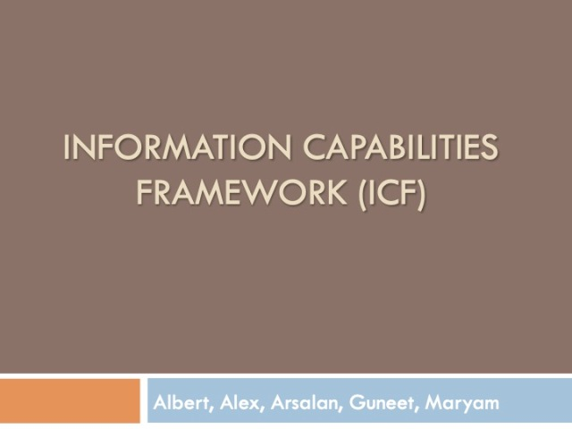 ICF 1 - Introduction