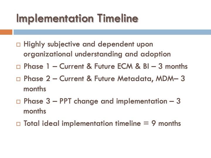 ICF 17 - Implementation Timeline