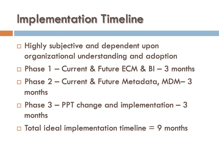 ICF 17 - Implementation Timeline