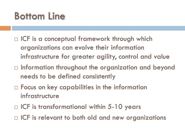 ICF 18 - Bottom Line