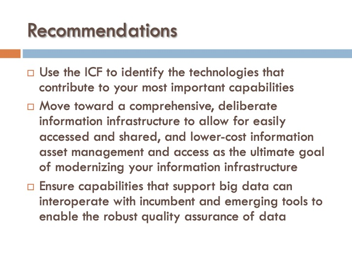 ICF 4 - Recommendations