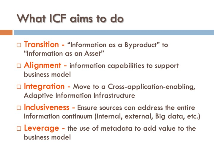 ICF 8 - What ICF aims to do
