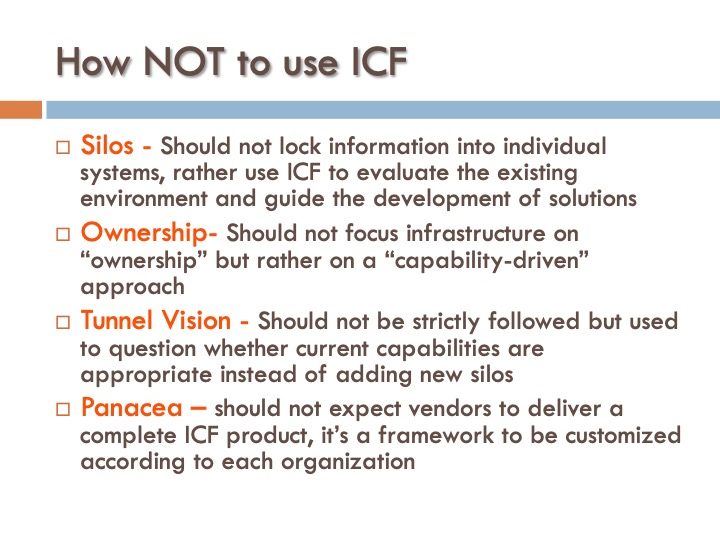 ICF 9 - How NOT to use ICF